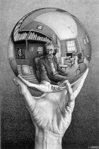 Lithograph by M. C. Escher, 1935