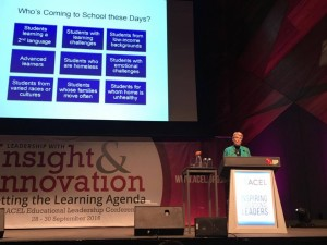 Tomlinson at ACEL conference 2016