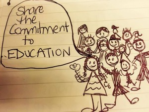 Share the commitment to teaching and learning