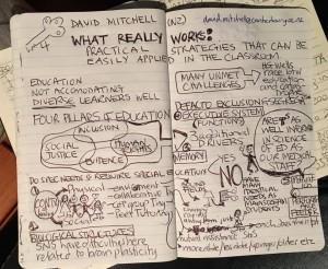 Sketchnote -Dr. Mitchell's keynote